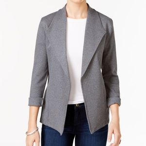 Style & Co Knit Blazer Gray Sz M